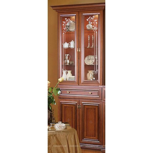 Витрина 2-х дверная орех Лунгарно Терра Скай