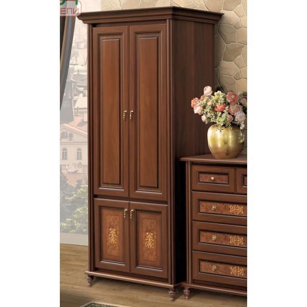 Шкаф 2-х дверный корень ореха Верона Скай