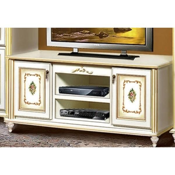 Комод ТВ белый с золотом 1,55 Верона Скай