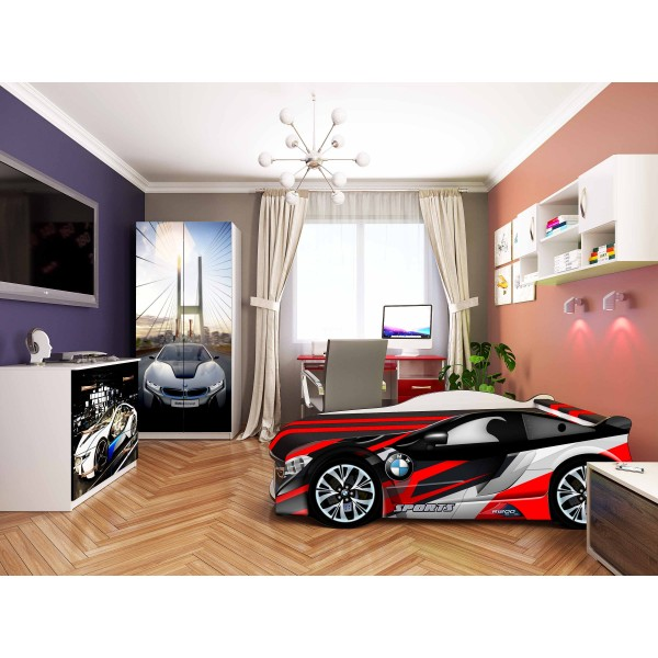 Кровать-машина детская Spase 01 с подъемным механизмом Viorina-Deko