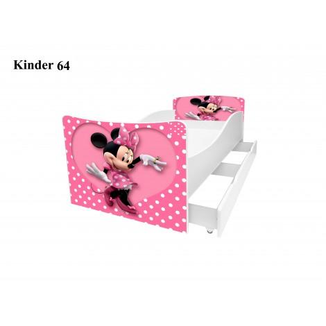 Ліжко дитяче Кіндер/Kinder 64 Viorina-Deko