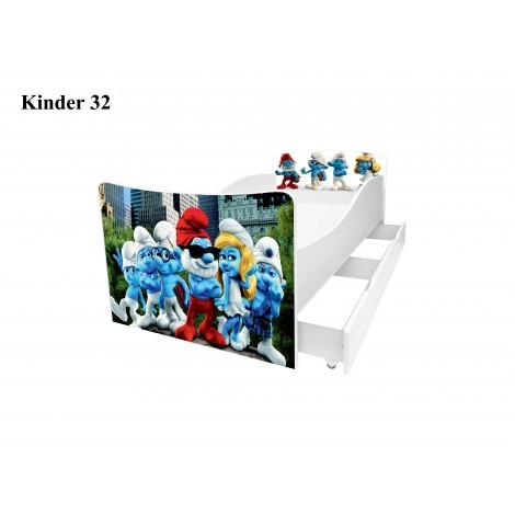 Ліжко дитяче Кіндер/Kinder 32 Viorina-Deko
