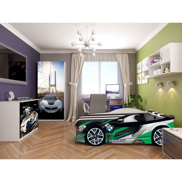 Ліжко-машина дитяча Spase 02 з підйомним механізмом Viorina-Deko