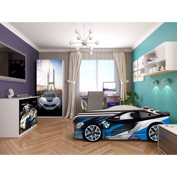 Кровать-машина детская Spase 04 с подъемным механизмом Viorina-Deko