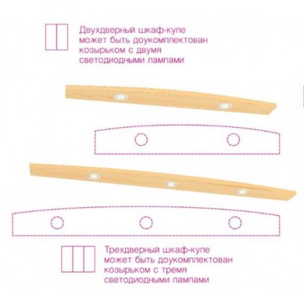 Шафа-купе дводверна фасди ДСП СТАНДАРТ від 100см Фенікс